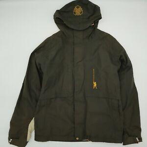 Burton Ronin Snowboard Jacket Coat Full Zip Men's size Small Green Faded