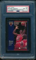 PSA 8 MICHAEL JORDAN 1991-92 Fleer 3D Acrylic Wrapper Redemption #29 HOF NM-MINT