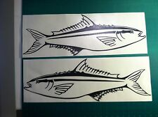 "(2) Cobia Fish boat Decals large 23"" Fishing graphics sticker mackerel"