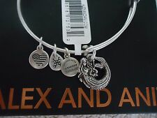 ALEX and ANI MERMAID II Rafaelian Silver Finish Bangle New W/ Tag Card & Box