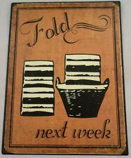 Fold Next Week  Laundry Room Retro Metal Wall Bar Sign Man Cave
