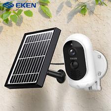 Eken 1080P WiFi Wireless solar camera with security camera IP  PIR Alarm