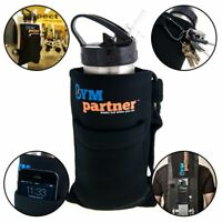 Gym Partner Magnetic Water Bottle & Accessory Case Hand Strap Hydration Run Hike