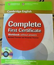 COMPLETE FIRST CERTIFICATE WORKBOOK without ANSWERS con Cd - THOMAS - CAMBRIDGE