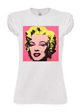 T-SHIRT TSHIRT DONNA HAPPINESS Marilyn Monroe fashion pop  art chic fashion
