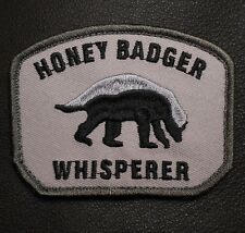 HONEY BADGER WHISPERER TACTICAL MILITARY SWAT VELCRO® BRAND FASTENER PATCH