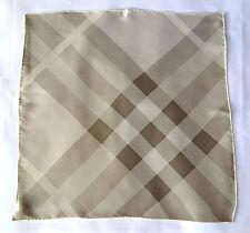 BURBERRY Foulard Scarf Carré платок foulard sciarpa 100% soie 46x46 Prix Recommandé 229 € Check