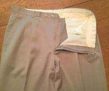 "Men's Zanella Italy Tan Lined ""Alter"" Dress Slacks Pants 37 X 31 in EUC"