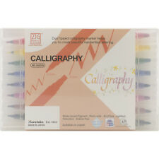 Zig Memory System Calligraphy Dual-Tip Markers 8/Pkg-