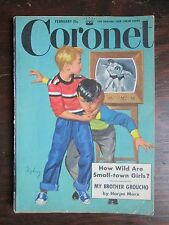 CORONET MAGAZINE February 1951  Article by Harpo Marx PHOTO ESSAY ON TV