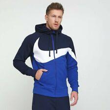 NIKE Air Men's NSW Swoosh Full Zip Tracksuit Jacket Top Hoodie MEDIUM Blue