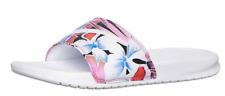 New Nike Women Benassi JDI Floral Print Slide Sandals White Pink 618919-113