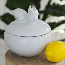 Limone Ceramic Lemon Jar w Lid 18cm(W) x 20cm(H) Hamptons Coastal Home Decor
