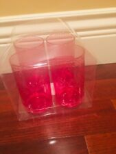 NEW BPA FREE PINK SUMMER GLASSES SET OF 4