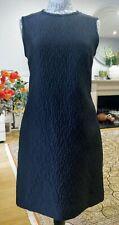 NWT CARVEN Black Textured Sleeveless Mini Dress FR40/UK12