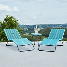 More details for blue rio set of 2 sun loungers