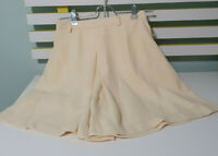 ABE COLLECTION SKIRT SKORT SHORTS PANTS LADIES BOTTOMS YELLOW SKATER SMALL