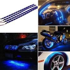 4pc 30cm 15 LED DC 12V Car Motor Truck Flexible Strip Light Waterproof Lamp Blue