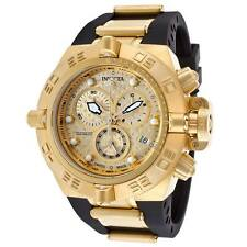 Invicta16144 Subaqua Noma IV18K Gold Plated Swiss Chronograph BLK Strap Watch