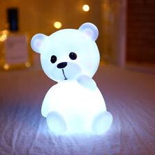 Kinder LED süß Bär Nachtlicht Bunten Einschlafhilfe Nachtlampe Kinderlampe