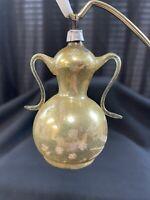 Vintage Free-blown German Coffee Pot Glass Christmas Ornaments Gold Mica *196