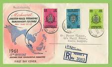 Malaysia 1961 Colombo Plan set registered First Day Cover, Penang