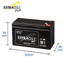 Batteria Ricaricabile a Piombo uso elettronico 12V 10Ah per bici elettriche PLUS
