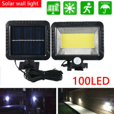 100 LED Solar Wall Light Outdoor Waterproof Garden Lights PIR Motion Sensor Lamp