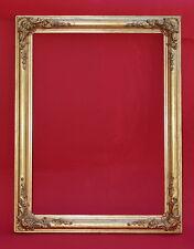 Rahmen - Spiegelrahmen - 19. Jh. - Holz, Ornamente Masse, vergoldet    (# 7374)