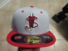 LOWELL SPINNERS MINOR LEAGUE NEW ERA (5950) FITTED HAT (7 1/8) NWT $38 GRAY/RED