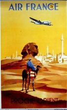Affiche AIR FRANCE  Proche Orient - V.Guerra 1950