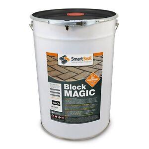 Smartseal 'BLOCK MAGIC' BLACK (sample, 5 & 25 L) Colours & Seal Old Block Paving