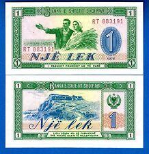Albania P-40 1 Lek Year 1976 Peasants Uncirculated Banknote Europe