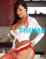 Lisa Ann, 10x8 inch Photograph #059 in Sexy Nurse's Outfit & Fishnet Suspenders