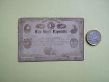 MINATURE  FENIAN BOND, $100, PRINTERS SAMPLE, ADVERTISING NOTE. CIRCA 1866, RARE