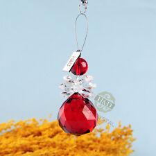 Window Suncatcher Red Crystal Snowman Pendants Hanging Chandelier Ball Prisms