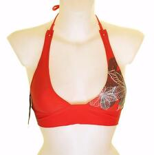 """BNWT Donna Oakley mascella Breaker Imbottito Bikini Top Nuotare usura Xsmall 32"""" -33"""" Rosso"""