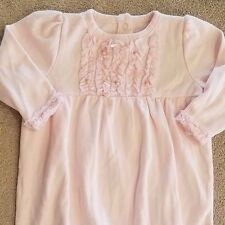 ADORABLE! LE TOP BABY 3 MONTH  PINK RUFFLE ROSES SLEEP GOWN REBORN!