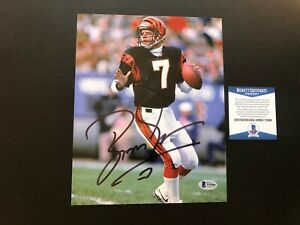 Boomer Esiason Hot! signed autographed Bengals QB 8x10 photo Beckett BAS coa
