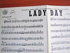 Lady Day: Artie Shaw - 1945 sheet music for 2nd Trumpet in B flat