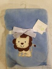 "BABY GEAR BABY BLANKET LION NEW WITH TAG SOFT 30""X30"""