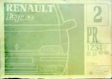 1991 1992  RENAULT ESPACE CATALOGUE DE PIECES DETACHEES PR 1234