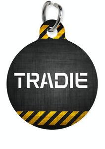 Pet ID Name Tag TRADIE Tradesmen Personalised Custom DOG CAT Name Tag