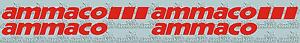 AMMACO VINYL DECALS - perfect for resprays
