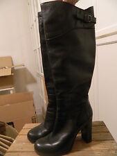 Stivali tacco pelle neri COSTUME NATIONAL leather black heels boots 36 Uk3