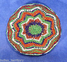 "Paiute Beaded Basket c.1950 -- Beadwork on Coiled Willow 1 1/2"" x 3 1/4"""