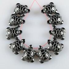 g3675 10pcs 18mm hematite small turtle  pendant beads
