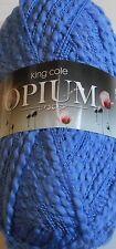 King Cole Opium Cornflower 1640 Chunky Cotton Yarn Flat Rate Postage £2.50 order