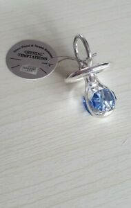 Crystal Temptations. Blue Teething Ring Gift.