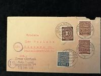 Deutschland Alliierte Besetzung Sowjetische Zone 24.09.1946 - Brief Halle